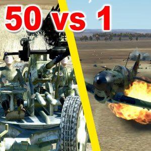 50 Anti-Aerial Artillery Weapons vs me