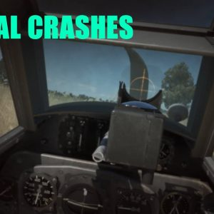 Airplane lethal crashes and takedowns during dogfights
