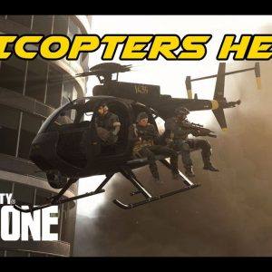 It's nice to have a helicopter around in WAR ZONE