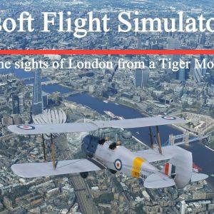 Microsoft Flight Simulator 2020 London in a De Havilland Tiger Moth - Asobo Photogrammetry Scenery