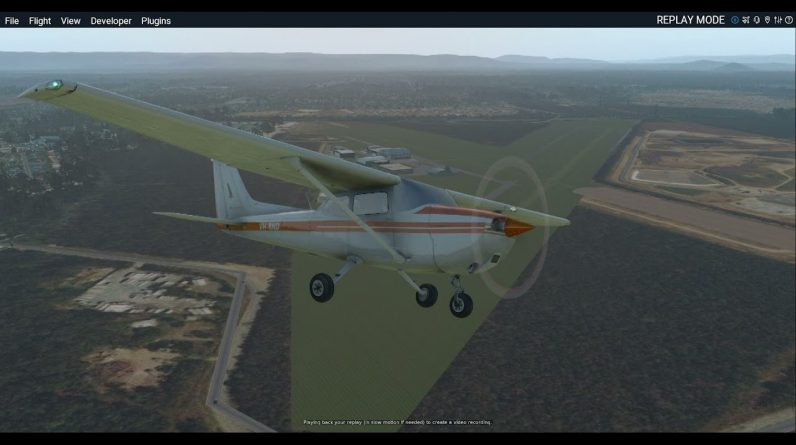C172 VH-RND Engine failure after takeoff YCAB / Caboolture. Forced landing in a field. Xplane 11 sim