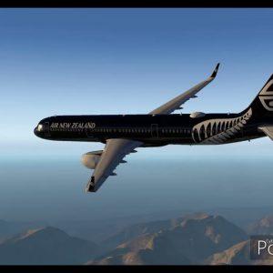 NZDN to NZQN ANZ All Blacks A321 Dunedin to Queenstown New Zealand X-plane 11