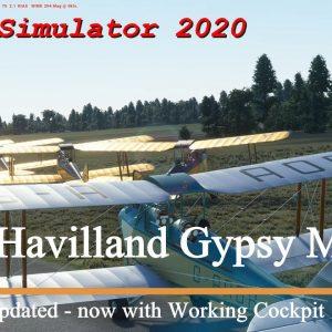 Microsoft Flight Simulator 2020 De Havilland Gypsy Moth UPDATED - Now with Working dials