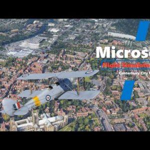 Microsoft Flight Simulator 2020 - Quick VFR - Wonderful Canterbury City Scenery - Tiger Moth