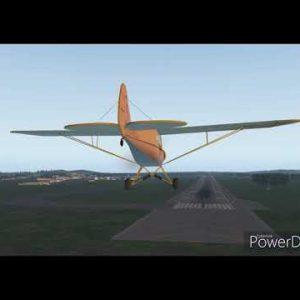 """Piper """"Cannon"""" Cub Gold Coast YBCG take off Rwy35 flight around Surfers Paradise dusk landing Rwy14"""
