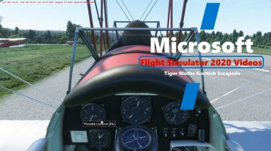 Microsoft Flight Simulator 2020 Tiger Moths Scottish Escapade Continues - Beautiful Scottish Scenery