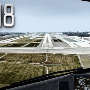 New Flight Simulator 2018 in 4K | Spectacular Approach and Landing in Los Angeles [Ultra Realism]