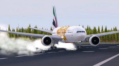 Unbelievable Boeing 777 HARD CROSSWIND Landing   Dangerous Landings   New Flight Simulator 2018