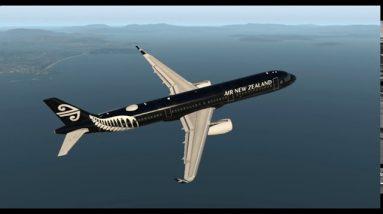 The Redundant Tour Part 4 Hobart to Launceston Tasmania, Airbus A321 ANZ All Blacks livery Xplane 11