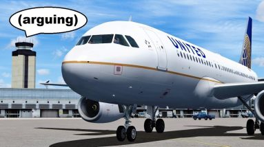 ATC Argument over Airspace Control in Flight Simulator X (Multiplayer)