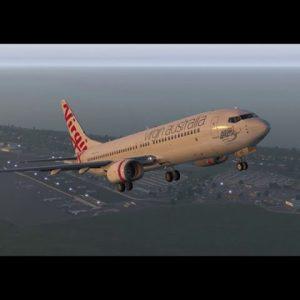 B737-800 Gold Coast to Brisbane Xplane 11 flight simulator. VAA livery.