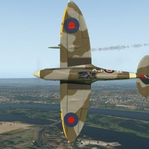 Supermarine Spitfire Mk IX Perth Langley Park Red Bull Air Racing Airstrip take off & landing XPlane
