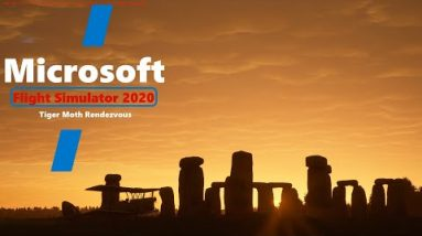 Microsoft Flight Simulator 2020 - Tiger Moth Summer Solstice Rendezvous - Stonehenge UK