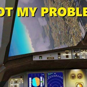 I GOT FLAMED BY ATC in Flight Simulator X (Multiplayer Intercept)