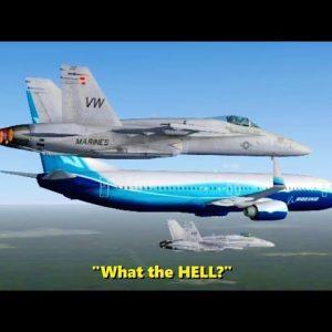 Intercepting a Boeing 737 in Flight Simulator X (Multiplayer)