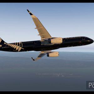 Osaka Kansai to Tokyo Haneda Air New Zealand Airbus A321 in All Black Colours X-plane 11Autoland HND