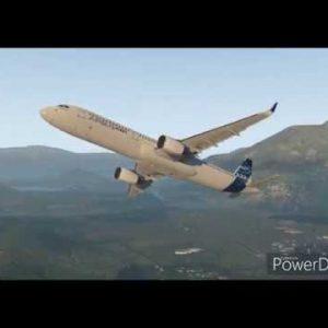 X-plane 11 Queenstown NZ Take off Runway 23 Landing Runway 05 Airbus A321