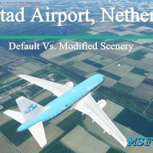 Microsoft Flight Simulator 2020 Lelystad Freeware Scenery - Default Vs. Modified - No FPS impact