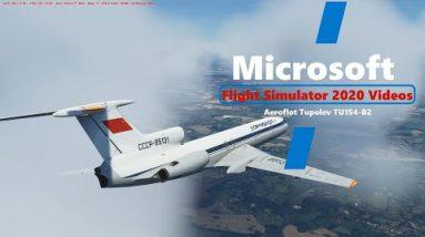 Microsoft Flight Simulator 2020 - Tupolev TU154 B2 Approach and Landing at Gatwick Airport UK