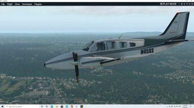 Beechcraft Baron 58 engine failure after take off YBBN/Brisbane Rwy19L return to land 19R X-plane 11
