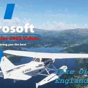Microsoft Flight Simulator 2020 Landing on Lake Windermere - Lake District National Park UK
