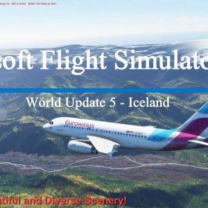 Microsoft Flight Simulator 2020 World Update 5 - Iceland - Great Performance - Stunning Scenery