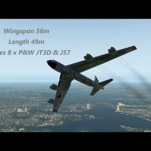B-52 Stratofortress flys under Sydney Harbour Bridge - unseen footage. lands SYD Rwy 16R X-plane 11