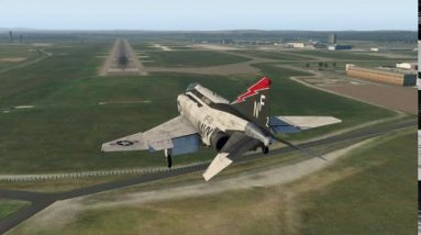 McDonnell Douglas F-4 Phantom Melbourne Airport YMML take off & landing, city, MCG, Docklands VIC XP