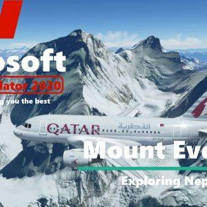 Microsoft Flight Simulator 2020 - New Bing Map Textures for Nepal Himalayas - Mount Everest Flight