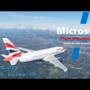 Microsoft Flight Simulator 2020 - Snowdonia North Wales UK - Beautiful scenic arrival to Carnarvon