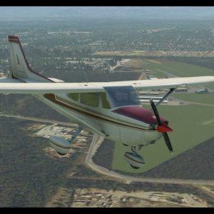 C172SP engine failure after T/O YCAB Caboolture return to land Rwy 24. Xplane 11 flight simulator