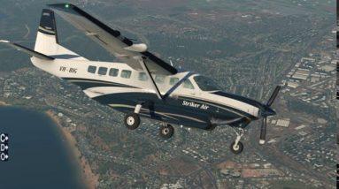 C208 Caravan Engine Failure & deadstick landing at Darwin YPDN, NT, Australia. X-plane 11 flight sim