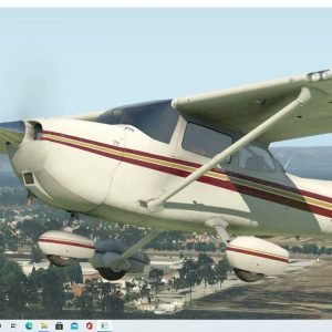 VH-KBL C172N Caboolture Airfield / YCAB Rwy12 takeoff and landing. X-plane livery by Cardinal Brian