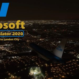 Microsoft Flight Simulator 2020 The Night Run to London City - Landing Runway 27