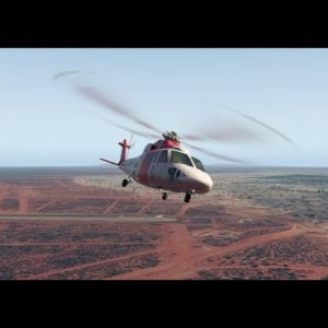 Sikorsky S-76 helicopter at Louth, NSW, then ditching into the Darling River. X-plane 11 flight sim.