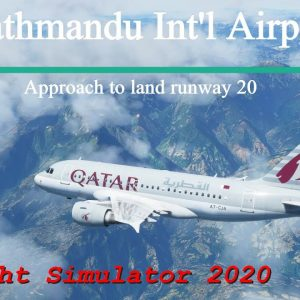 Microsoft Flight Simulator 2020 - Crazy steep approach to land at Kathmandu - Airbus A318