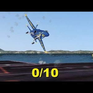 The WORST Carrier Landings You'll See in Flight Simulator X (Multiplayer)