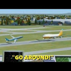 """WRONG RUNWAY!"" Pilot Error in Flight Simulator X (Multiplayer ATC)"