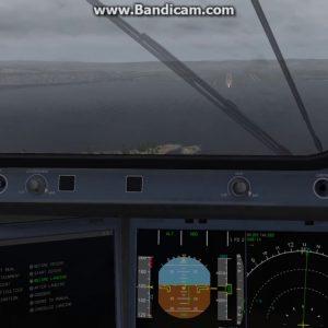 XPLANE 11- A350XWB -LFML - CROSSWIND APPROACH - BIG STORM