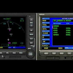 XPLANE11 - CESSNA SKYHAWK - GPS - Plot a segment on the GPS garmin 503