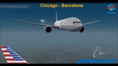 [P3Dv3.4] STRESSFULL BARCELONA FLIGHT (VATSIM) | O'hare (KORD) - Barcelona (LEBL) | AMERICAN