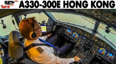 SAS A330-300 into Hong Kong | Procedures over Siberia, Approach Briefing & more