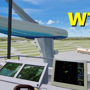 Air Traffic Controller QUITS On The Job - Flight Simulator X (Multiplayer)