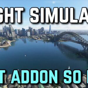 The BEST Addon For Microsoft Flight Simulator | ORBX FS2020 Sydney Cityscape Review