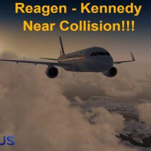 [P3Dv3.4] NEAR COLLISION TAKEOFF!! (VATSIM) | Reagen National (KDCA) - JFK NY (KJFK) | AMERICAN