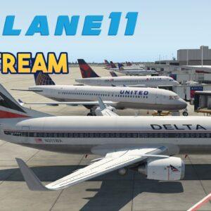 Flight Simulator - X-Plane 11 - Boeing 737 KEYW - KATL Test Stream 2