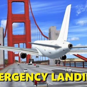 EMERGENCY LANDING on the Golden Gate Bridge! (Flight Sim X Multiplayer Chaos)