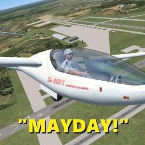 GLIDER Pilot Declares EMERGENCY! (Trolling in Flight Sim X Multiplayer)