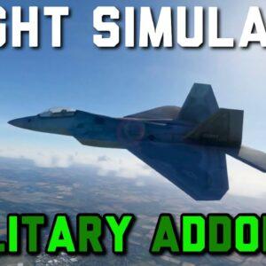 FREE Military Jets In Microsoft Flight Simulator | F22, SPITFIRE, Blackbird & More!