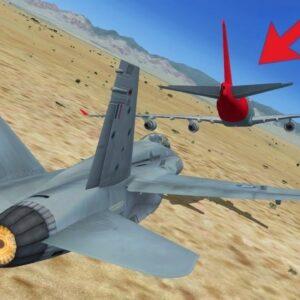 Intercepting a CRAZY 747 Pilot in Flight Simulator X (Multiplayer)